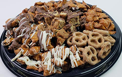 Peanut Butter Chocolate Pretzel Gift Tray - Perfect for Birthdays, Parties, Sympathy Events (Pretzels Covered Chocolate Butter Peanut)