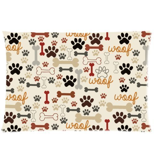 Dog Paws Bones Pillowcase Protector product image