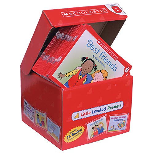 Scholastic SC-9780545067683 Little Leveled Readers Book: Level B Box Set, 5 Copies of 15 Titles (Pack of 76)