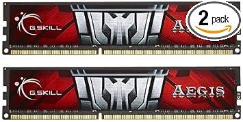 8GB G.Skill Aegis DDR3 PC3-12800 1600MHz Dual Channel kit CL11 Low-voltage 1.35V