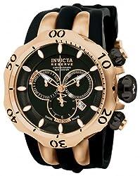 Invicta Men's 10830 Venom Analog Display Swiss Quartz Black Watch
