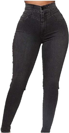 EnergyWD Women Long Pants Denim Fall Winter Ultra Stretch Tapered Jean