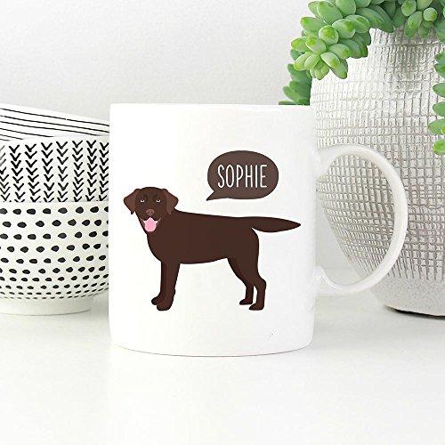 PERSONALIZED CHOCOLATE LABRADOR RETRIEVER Dog Funny Mugs, Dog