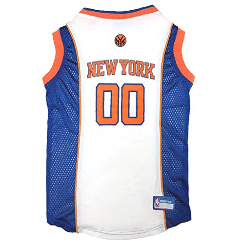 Pets First NBA NEW YORK KNICKS DOG Jersey, Medium
