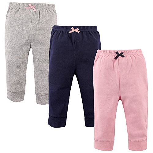 Price comparison product image Luvable Friends 3 Pack Tapered Ankle Pants,Pink, Navy/Gray,4T