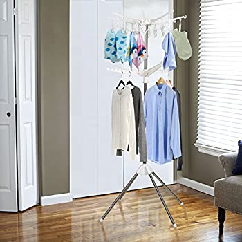 Amazon.com: Collapsible Indoor Tripod-Style Clothes Dryer 2 Tier Garment Rack Clothes Laundry
