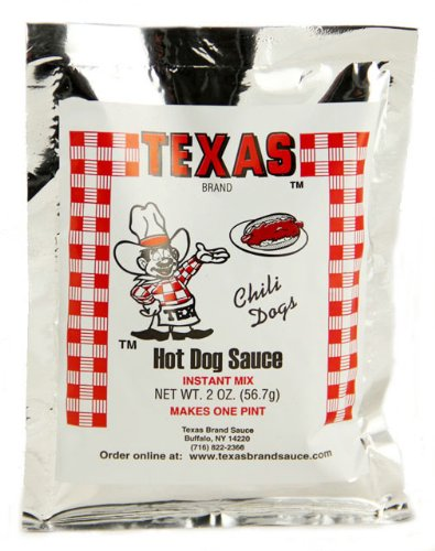 Texas Buffalo's Own Brand Hots Hot Dog Sauce Instant Mix Packet (Best Chili For Chili Dogs)