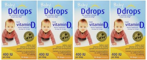 DDROPS 400 IU 90 DROPS - 4 Pack