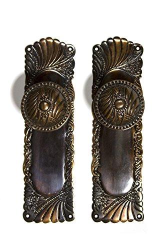 (Roanoke Passage Backplates and Doorknobs (Antique Copper) )
