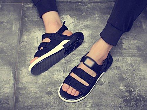 e estivi WFL morbide Sandali scarpe ciabatte uomo da sandali sportive da spiaggia uomo da uomo da bianco Nero BWBcXqRg
