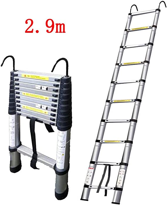 QARYYQ Escalera telescópica Engrosamiento doméstico Gancho Recto Escalera de ingeniería ático Plegable Elevador de bambú portátil Taburete (Size : 3.2m): Amazon.es: Electrónica