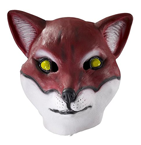 Adult Latex Full Head Red Fox Mask Costume -
