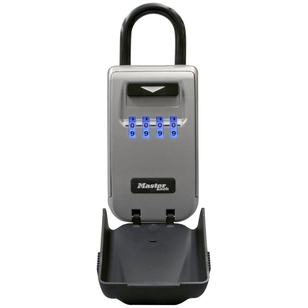 Master Lock 5424D Set Your Own Combination Portable Lock Box with Light Up Dials 6 Key Capacity by Master Lock