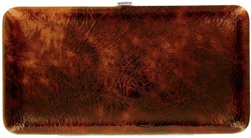 Amber Brown Patent Metropolitan Hard Case Wallet - Amber Wallet
