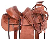 AceRugs Heavy Duty Wade Tree Rough Out Western Roping Ranch Work Leather Horse Saddle TACK Set Included