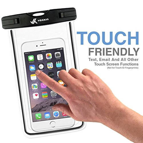 ⚡ [ Premium Quality ] Universal Waterproof Phone Holder with ARM Band & Lanyard - Best Grade Water Proof, Dustproof, Snowproof & Shockproof Pouch Bag Case for Apple iPhone, Android and All Smartphone by VK Voxkin (Image #3)