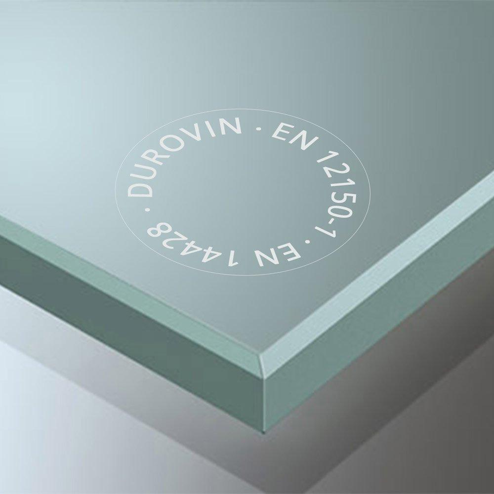 ESG Sicherheitsglas Schiebet/ür Zimmert/ür Teilsatiniert 90x205 cm Design Glasschiebet/ür Amalfi TS11-900 B/ürot/ür Glast/ür