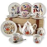 Beatrix Potter 15pc Large Tea Set w Peter