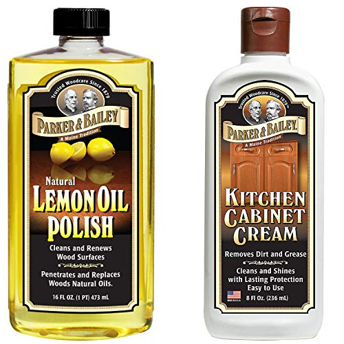Parker and Bailey Natural Lemon Oil Polish Bundled with Kitchen Cabinet Cream (Bailey Stool)
