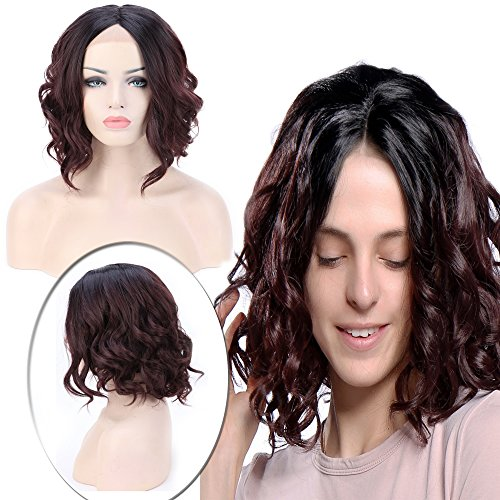 Club Curls Wig (Bob Curly Lace Front Wig Short for Black Women U Part Glueless Transparent Lace 14