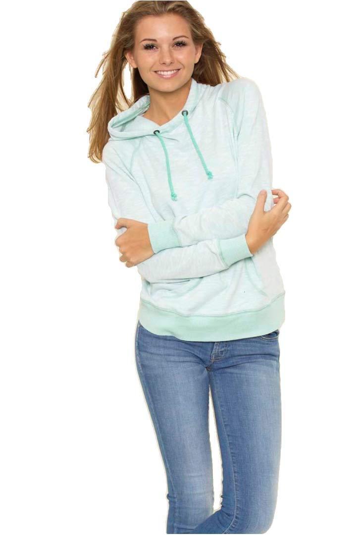 U.S. Apparel Woman's Scuba Hoodie Sea Glass XL