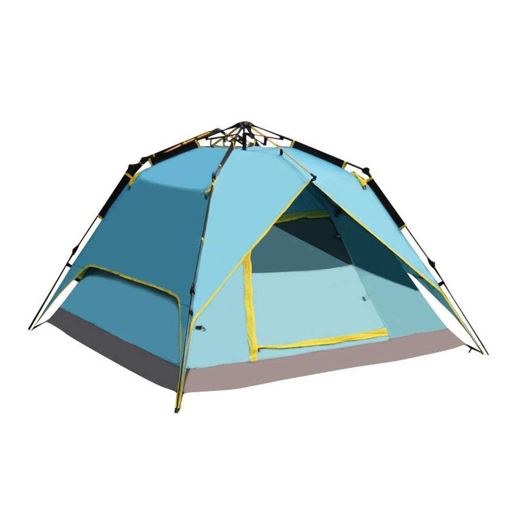 Dall zelte Zelt Kuppel Automatisch Schnell Pop-up Camping Tragbar Wasserdicht Draussen 215  215  145 cm (Farbe : Blau)