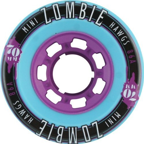 Hawgs Wheels Mini Zombie Teal Skateboard Wheels - 70mm 86a (Set of 4) (Hawg Wheels)