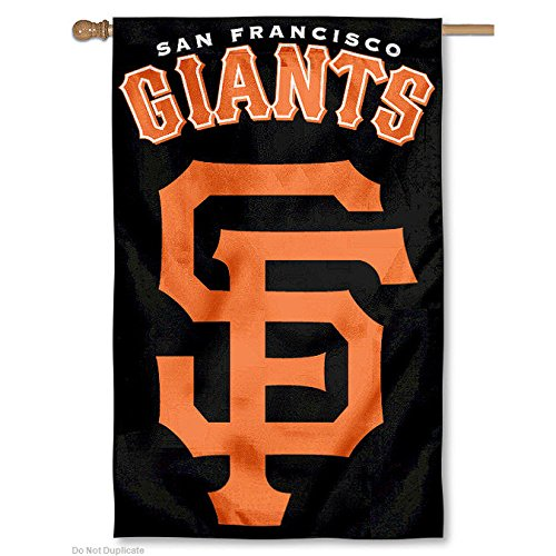 Party Animal Sports Fan MLB Team San Francisco Giants Applique Banner Flag