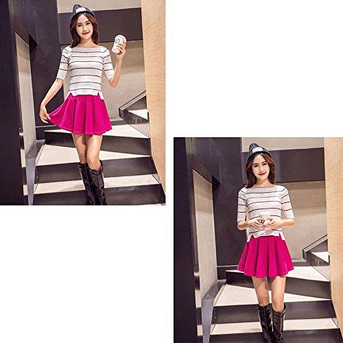701e13b408 En venta KINDOYO Nueva moda falda plisada de cintura elástica color sólido  más el tamaño falda