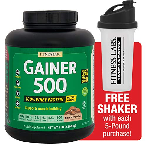 Fitness Labs Gainer 500, 50g Protein 100% from Whey, Natural Flavors and Sweeteners - Gainer Muscle Xtreme