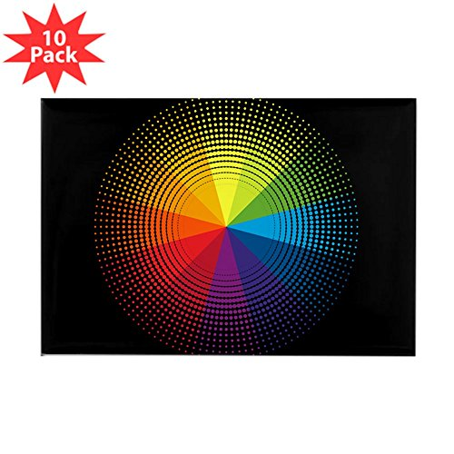 - Rectangle Magnet (10 Pack) Artist Rainbow Color Wheel