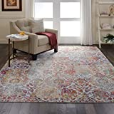 "Nourison Global Vintage White and Orange French Country Area Rug 7'10"" x 9'10"""