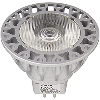 Bulbrite SM16-09-36D-930-03 SORAA 9W LED MR16 3000K VIVID3 36° DIM Silver
