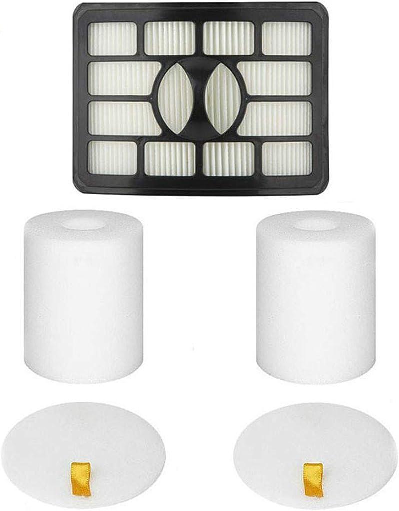 Tharv1 HEPA Filters + 2 Foam Flet Filter Kits for Shark Rotator Pro Lift-Away NV500 NV501 NV502 NV503 NV505 NV510 NV520 NV552 UV560 Black