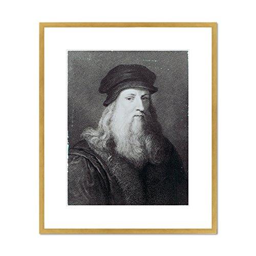 Leonardo da Vinci, engraved by Raphael Morghen by Leonardo da Vinci, 1817. Framed Art Print