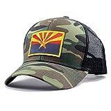 Homeland Tees Men's Arizona Flag Patch Trucker Hat