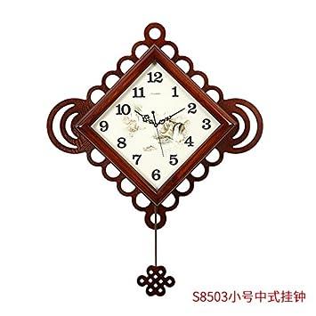 Y Hui Das Neue Wanduhr Wohnzimmer Massivholz Uhren Carry Home Atmosphäre  Art Deco Wanduhr