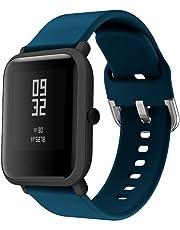 H.Eternal Aplicable al Reloj Xiaomi Huami Amazfit Bip, reemplazo Suave de Silicona,