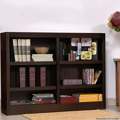 Midas Six Shelf Double Bookcase 36