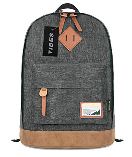 Tibes Vintage Reiserucksack Schultaschen für die Schule Jungen Schwarz