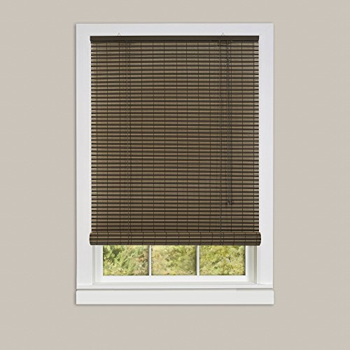 Genesis Home Ashland Oval Indoor & Outdoor Roll Up Blinds Window Shade (48x72, Cocoa/Almond) - 2 (Vinyl Oval Shade)