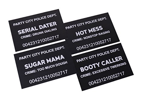 fun bachelorette party decoration photo booth props funny mugshot