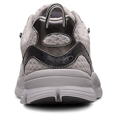 Dr. Comfort Chris Men's Therapeutic Extra Depth Sportlicher Schuh aus Leder / Mesh-Schnürung Grau