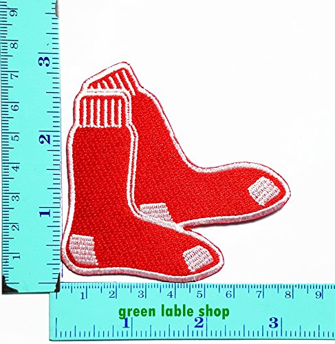Red Sox Nfl Logo Football Patch Logo Sew Iron on Embroidered Appliques Badge Sign (Red Sox Costume)