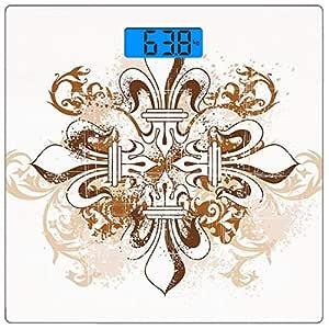 Escala digital de peso corporal de precisión Square Flor de lis ...