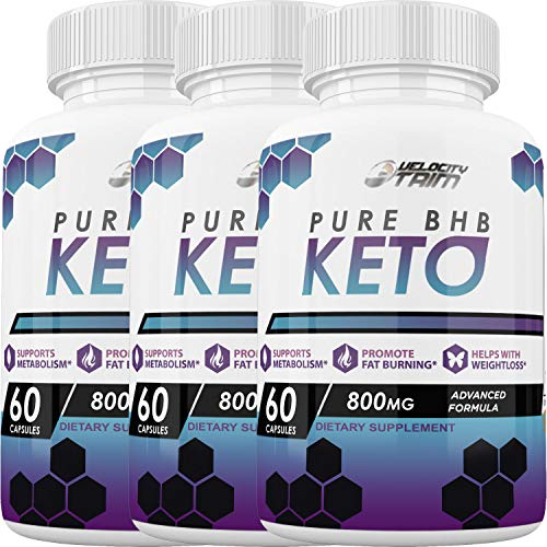 Velocity Trim Keto Diet - Advanced Ketosis Weight Loss - Premium Keto Diet Pills - Burn Fat for Energy not Carbs (3 Month Supply)
