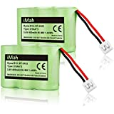 2-Pack iMah Ryme B12 Rechargeable Cordless Phone Battery Compatible AT&T 2422 2250 2255 3000 4051 VTech 80-5074-00-00 GE TL96155 Sanik 3SN-2/3AA30-S-J1 Home Handset Telephone