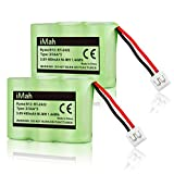 #9: 2-Pack iMah Ryme B12 Rechargeable Cordless Phone Battery for AT&T 2422 2250 2255 3000 4051 VTech 80-5074-00-00 GE TL96155 Sanik 3SN-2/3AA30-S-J1 Home Handset Telephone