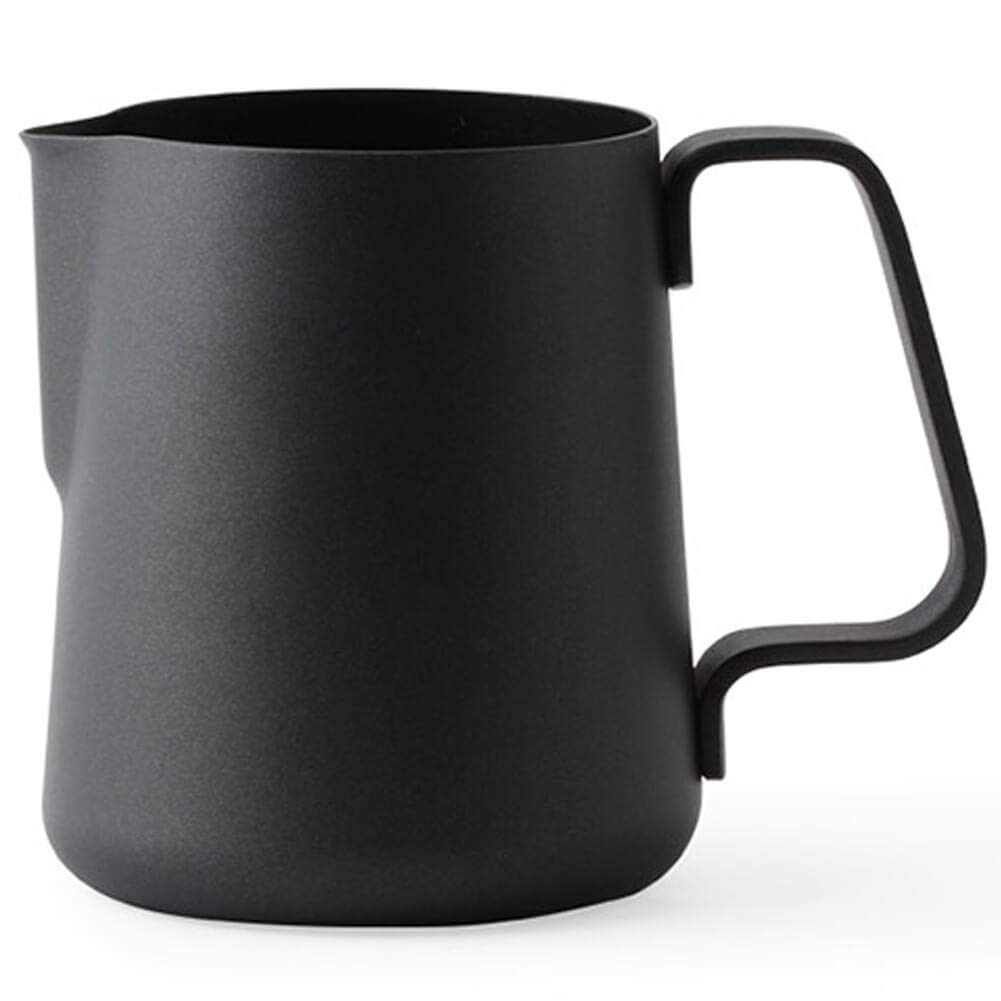 Ilsa Non Stick Milk Frothing Pitcher Professional Latte Art Milk Steaming Jug Stainless Steel, Black - 800ml / 27oz