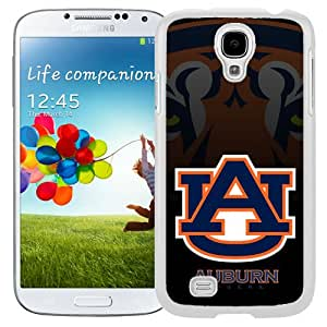 New NCAA Southeastern Conference SEC Football Auburn Tigers 2 Logo Cell Phone Hardshell Cover Case for Galaxy S4 SIV S IV I9500 I9505 White